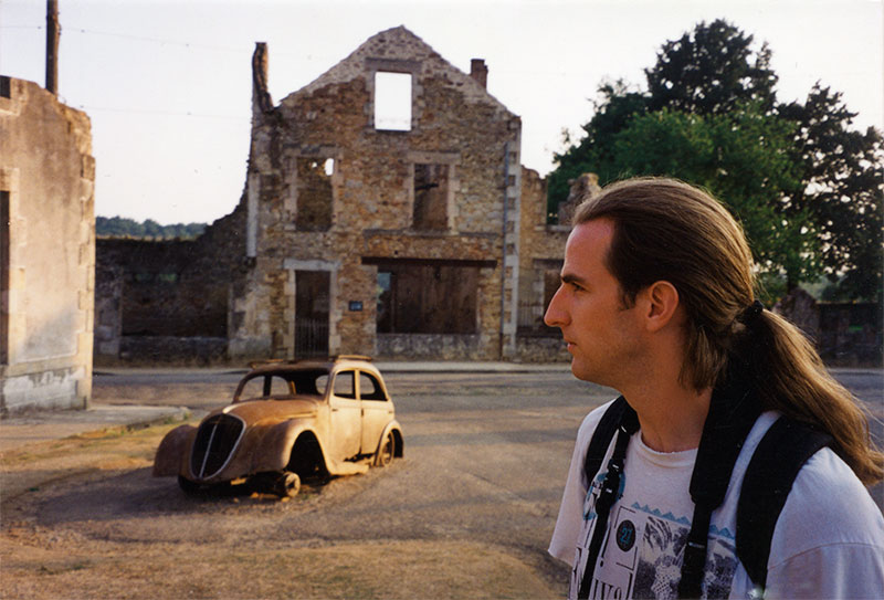 Glenn Warner shooting in Oradour-sur-Glane, France.